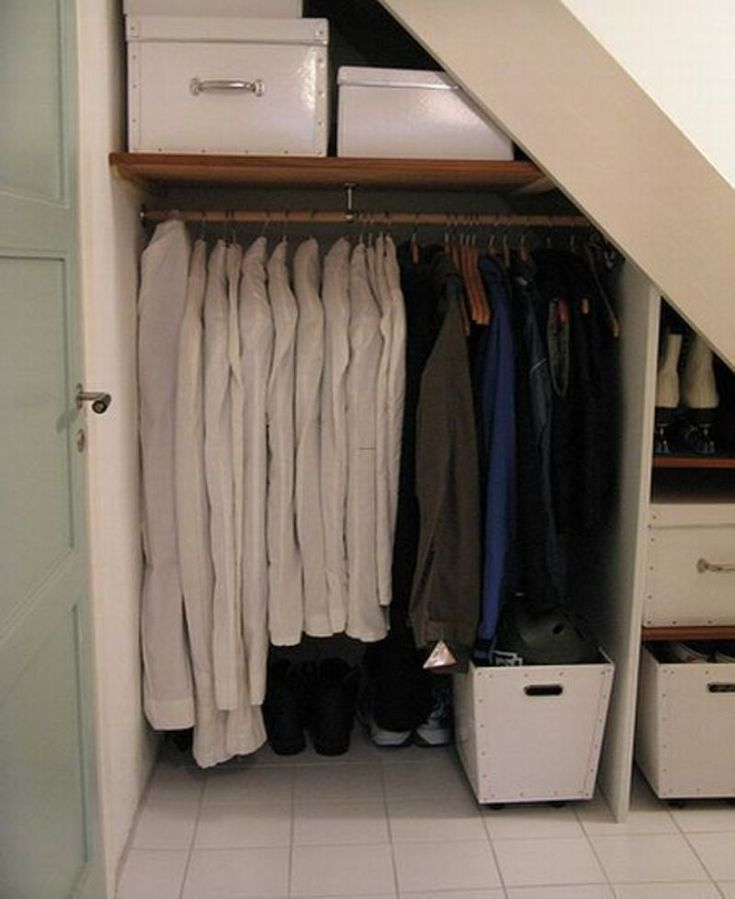 Under stair storage solutions for storing clothes