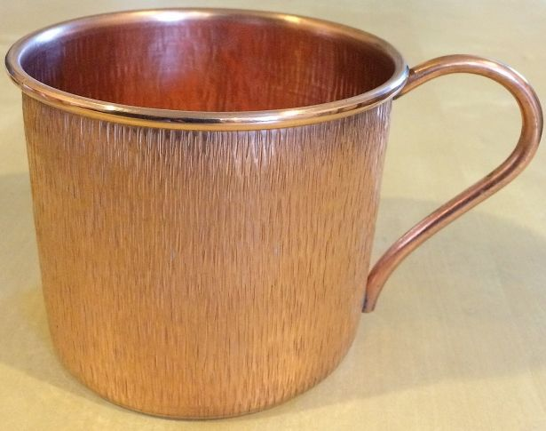 14 oz. Solid Copper Mugs, Encino Hammering Finish, Set of 2 by Hammered Mules on Gourmly