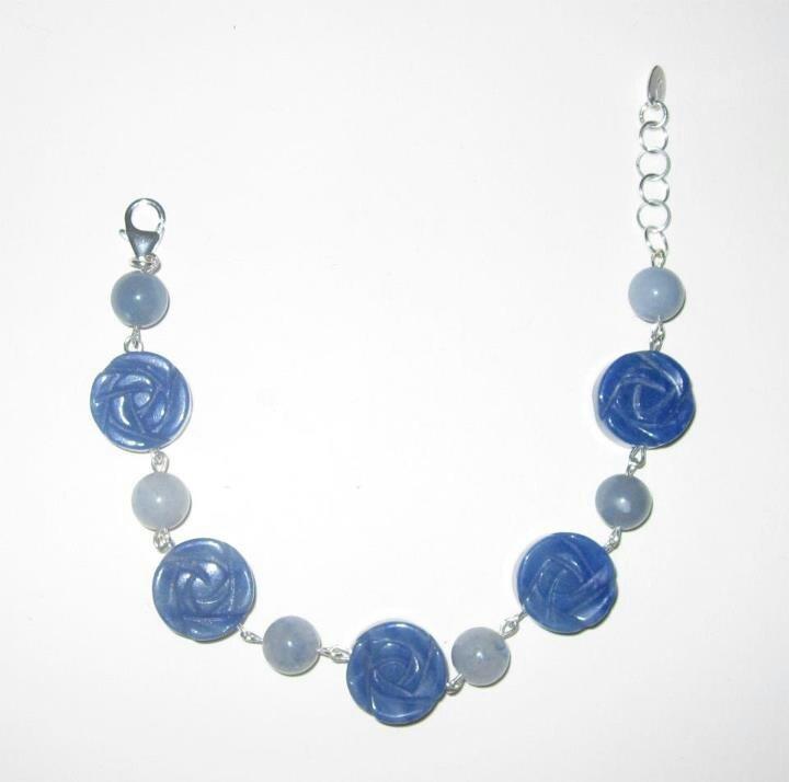Bracciale in argento e avventurina blu www.facebook.com/VioletArtBijoux