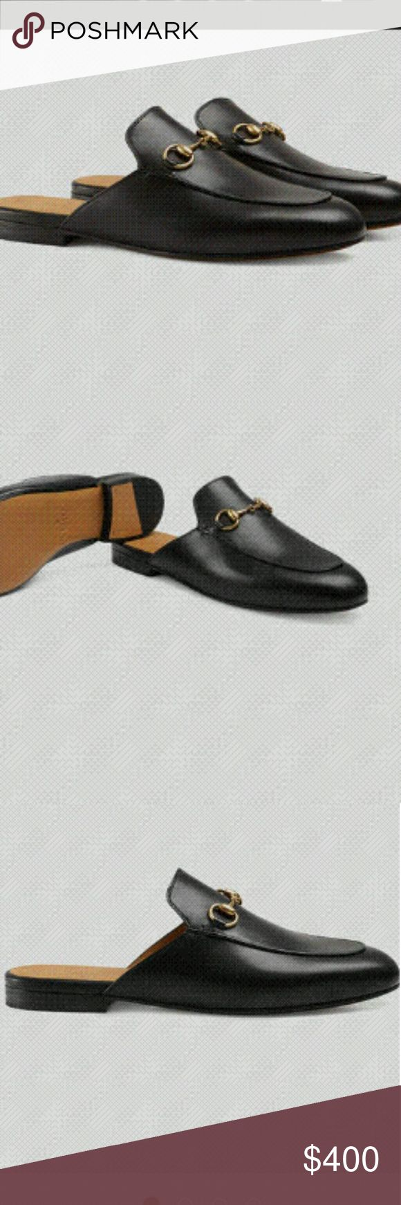 New Princetown loafer mules USA size 8 Brand new black leather mules with dust bag and authenticity card. Gucci Shoes Mules & Clogs