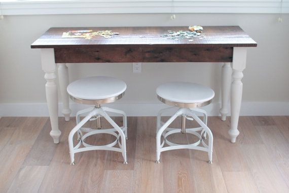 small pet t reclaimed wood farmhouse dining table or desk