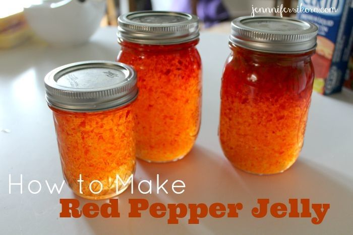 Red Pepper Jelly - One of the easiest recipes that I have ever made in my life.