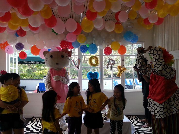Clown Show in Birthday Celebration,