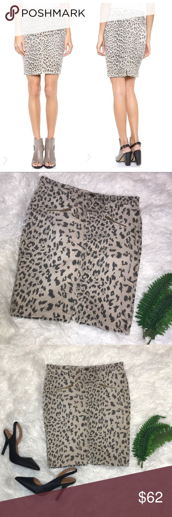 NWT Current/Elliot Soho Zip Stiletto Pencil Skirt Super cute leopard skirt!   NWT - Size 26 (Size 2 based on their size chart)  98% Cotton 2% Elastane Current/Elliott Skirts Pencil