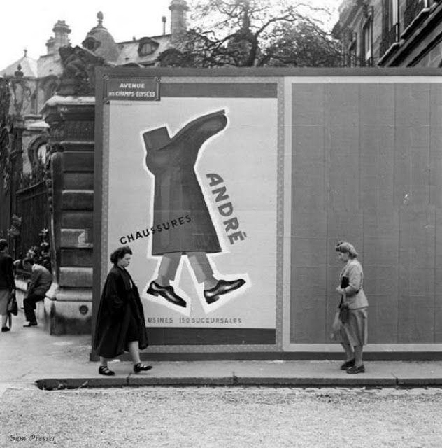 La pub pour   les chaussures André, années   50