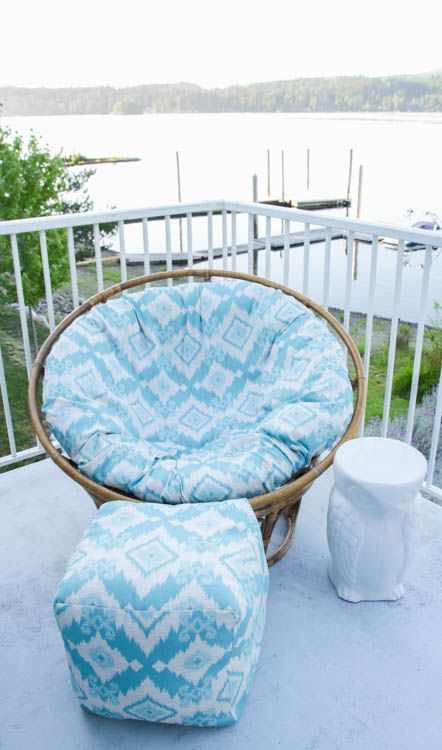 How to recover a Papasan Chair cushion - DIY Papasan Chair Cover tutorial at thehappyhousie.com-14