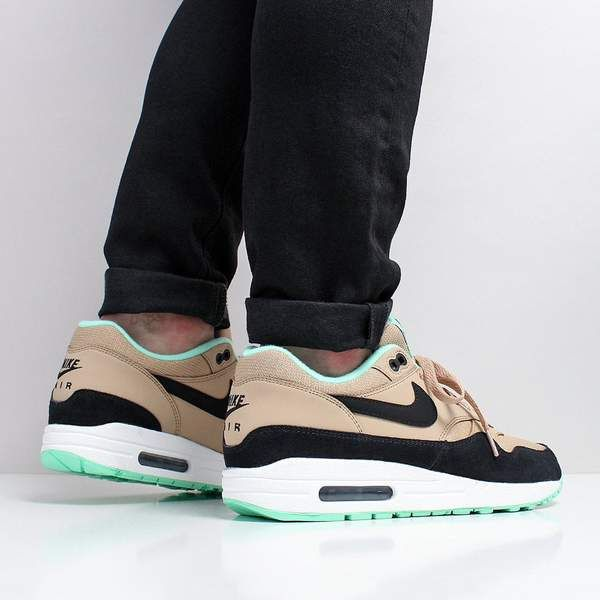 new products famous brand good texture Nike Air Max 1 - Desert / Black / Green Glow / White – Urban ...