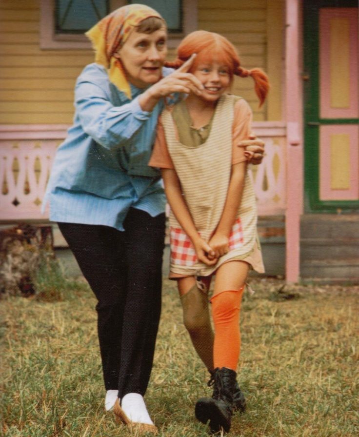 Astrid Lindgren and Pippi
