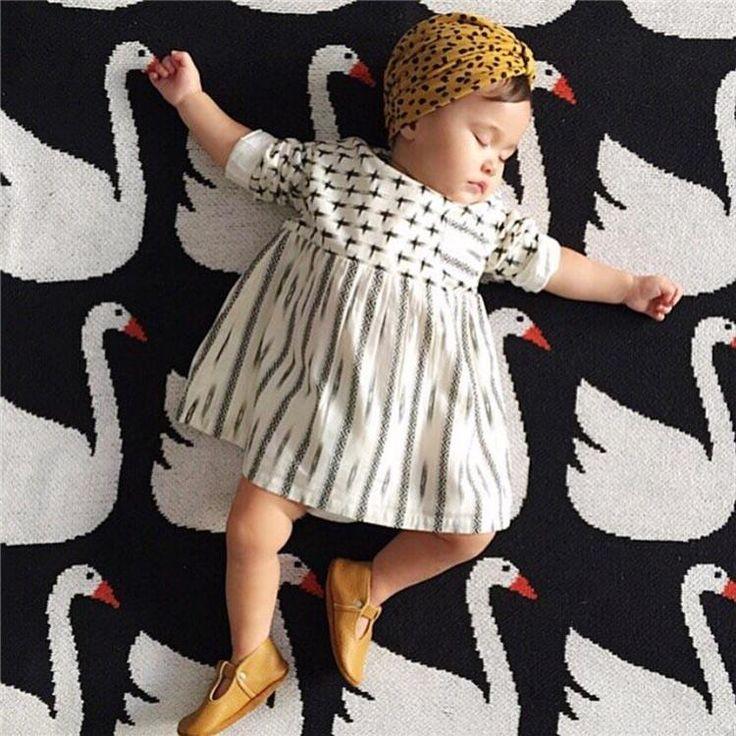 Organic Cotton Stroller Blanket - White Swan