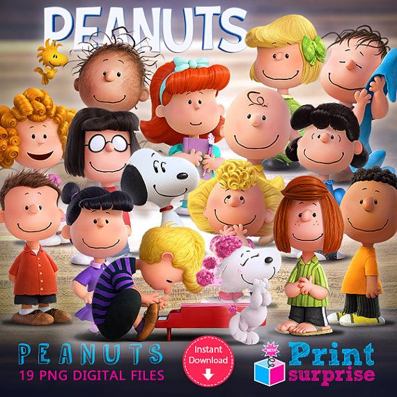 Peanuts digital cliparts for INSTANT DOWNLOAD by PrintSurprise