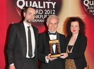Castelli Hotel won the International Arch of Europe Award in Frankfurt in the presence of business leaders and representatives from 49 countries. At the International Arch of Europe Convention, Maria Lougaris (right), Managing Director, and Dr. Vassilios Lougaris (left), Developmental Consultant of Castelli Hotel proudly received the distinction symbolizing quality and innovation from the President and C.E.O. of Business Initiative Directions, Jose E. Prieto.