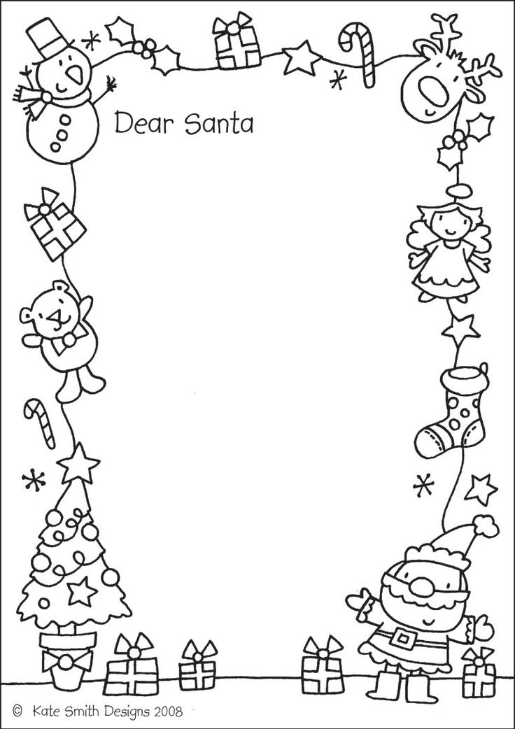 Letter to santa this one is fun because you can color it too letter to santa this one is fun because you can color it too thats clever pinterest santa printable letters and free printable spiritdancerdesigns Choice Image