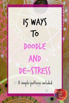 Easy patterns that anyone can do for stress relief. This was SO MUCH FUN!
