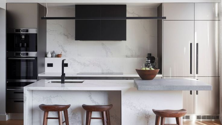 Pantries, fridges and rangehoods require special consideration. Jason and Sarah's kitchen.