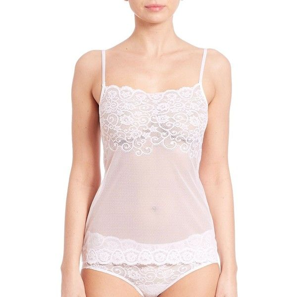 Commando Tulip Lace Camisole ($64) ❤ liked on Polyvore featuring intimates, camis, see through lingerie, white lace lingerie, lingerie camisole, white cami and sheer lace lingerie