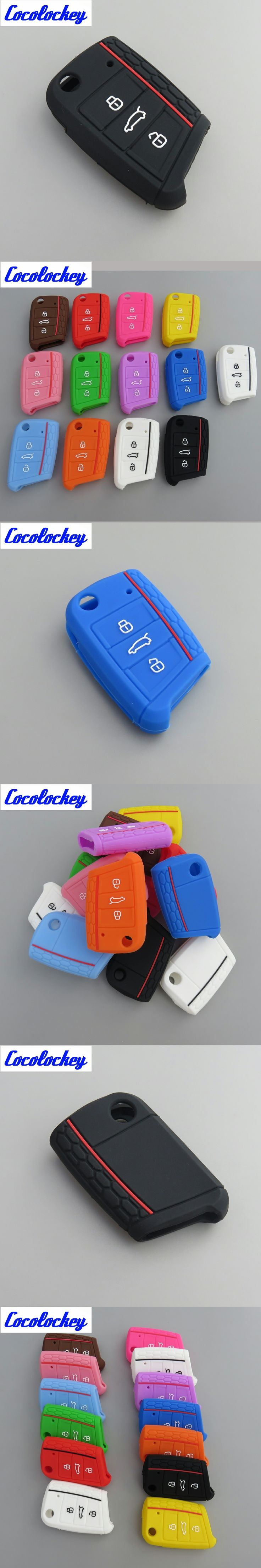 Cocolockey Silicone Car Key Cover Case Holder for VW Polo 2016 Golf 7 MK7 for Skoda Octavia Combi A7 for SEAT Leon Ibiza CUPTRA