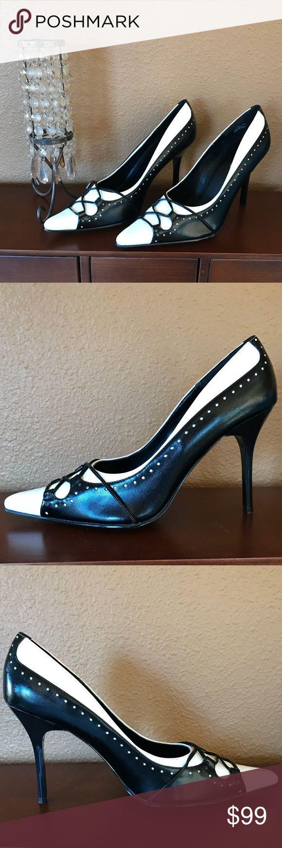 Fredericks of Hollywood tuxedo heels, sz. 9.5M Fredericks of Hollywood tuxedo stiletto, sz. 9.5M. Like new!! Frederick's of Hollywood Shoes Heels