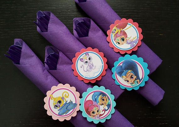 Shimmer and shine utensil sets for party decorations candy