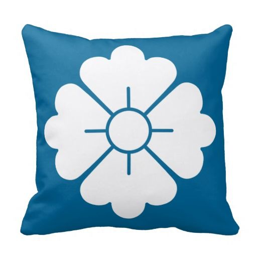 Flower shape design pillows - white - customizable: you can also change the background to any color you like as well as scale/position the design. For your convenience, the design is in both the front and the back, but if you don't want it in the back, you can always remove it.