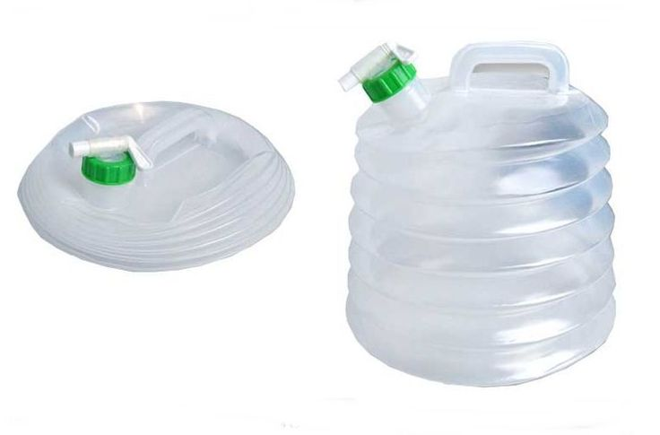 Flexible Water Bucket Bag 10L Camping, Picnic, Climbing, Mineral Spring, Fishing #ShinSung