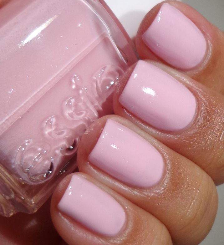 Essie - No baggage please - so pretty!....I just painted this on my nails and LOVE IT! So many times when I get light colored polish it doesn't show up, this one looks awesome!