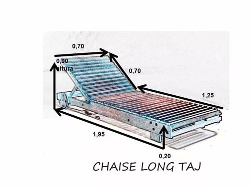 Photo of taj wooden sunbed with aquablock mattress