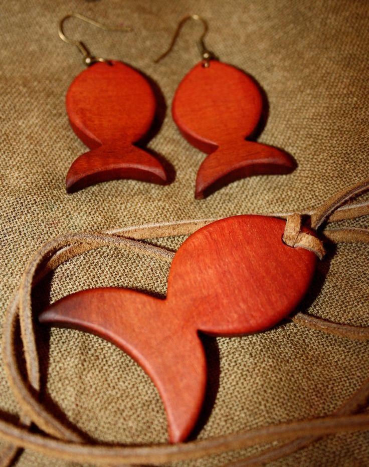 wooden earings&neckles