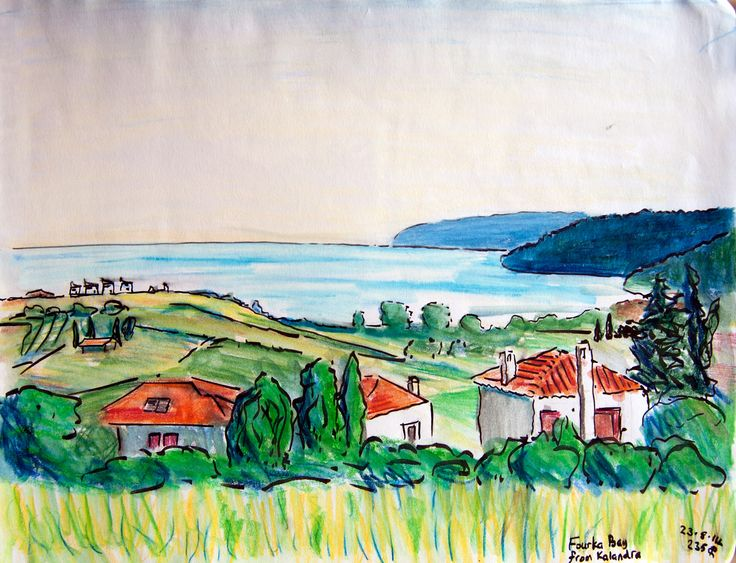 Amazing painting !!! August 2014 Fourka Bay #Halkidiki