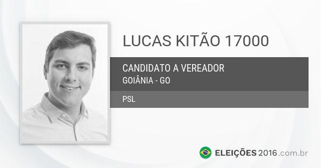 Lucas Kitão 17000 é candidato a Vereador de  Goiânia - GO pelo PSL nas Eleições Municipais de 2016