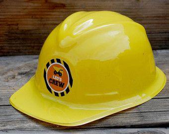 Construcción cumpleaños, Favor fiesta de construcción, cascos de construcción, decoración del partido, en construcción, carro de descarga, sombrero de cumpleaños