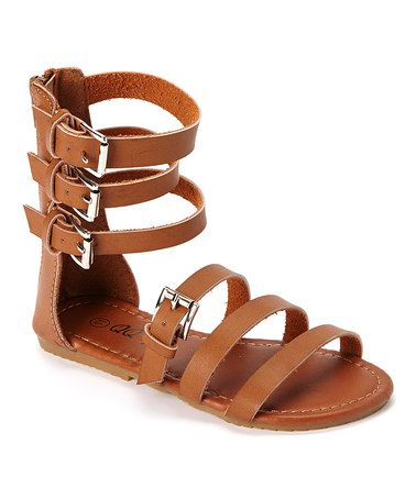 Brown Julia Gladiator Sandal #zulily #zulilyfinds