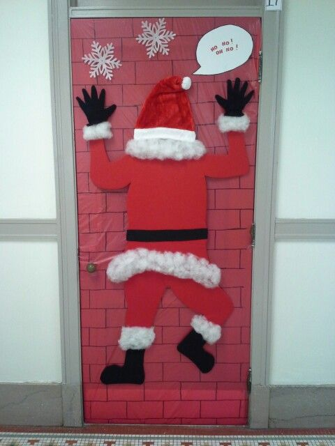 Santa Door Decoration Ideas