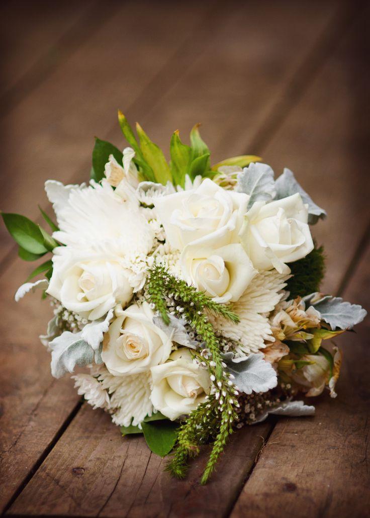 Boho White Wedding Bouquet
