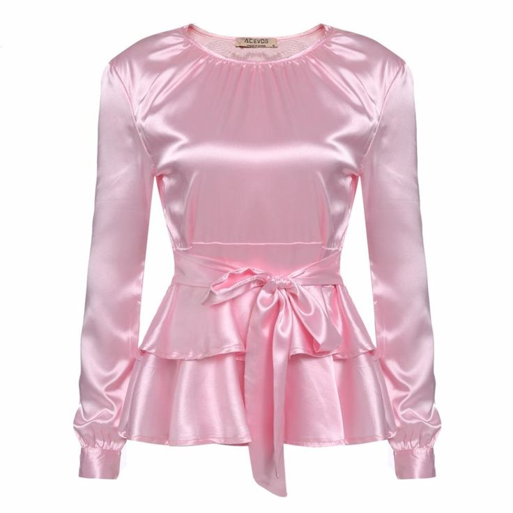 $19.99 🎁 Free Gift With Purchase or   🎉Get $10.00 Off When You Use Discount Code: Buy Now    Note: This offer expires 10/3/2017   Description: White or Pink Satin Long Sleeve Bow Blouse