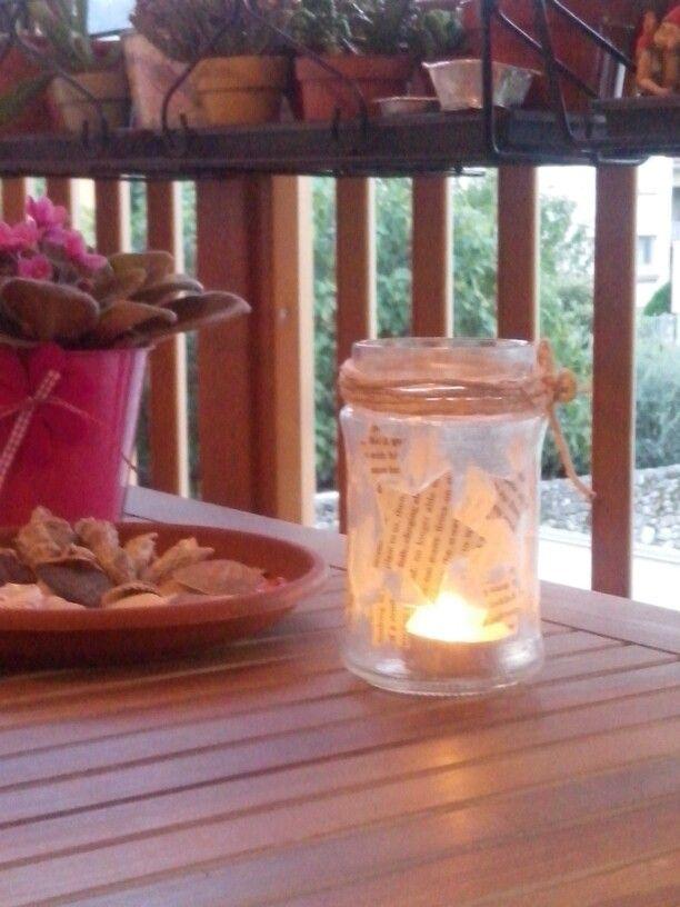 Alice's tea light jar.