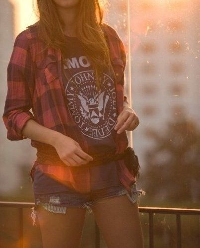 Band Tees and Flannels summer casual bbq outfir