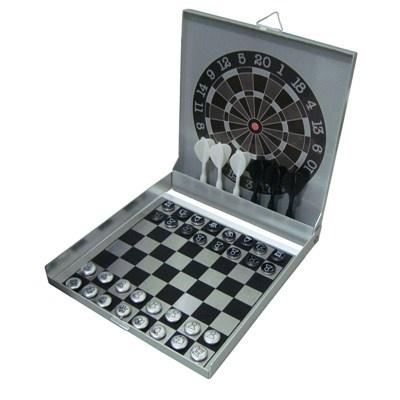 Mini Jogo De Dardo E Xadrez Magnéticos. R$47.12