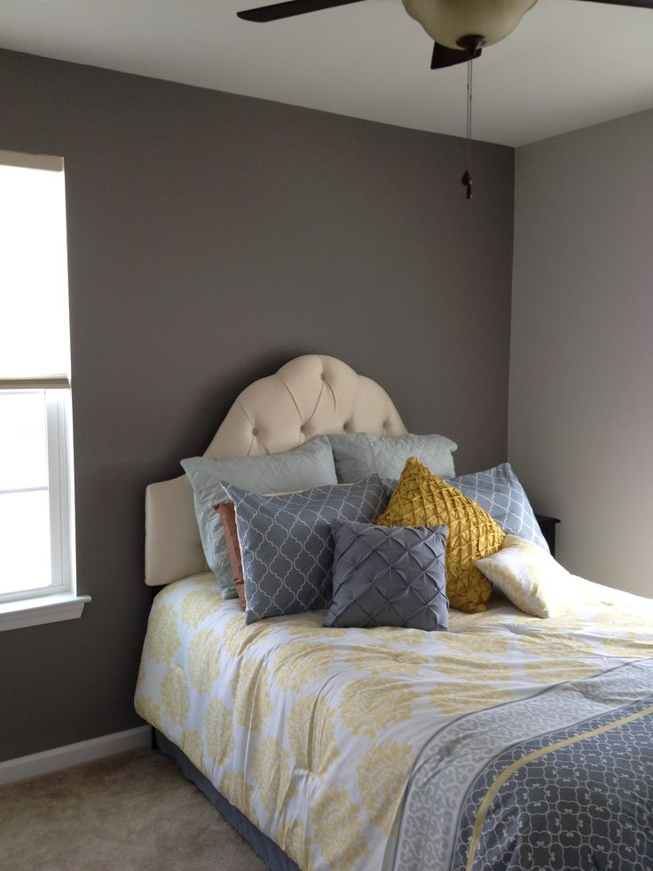 Guest Room For A Small Space Sherwin Williams Paint Accent Wall Dove Tail Surrounding