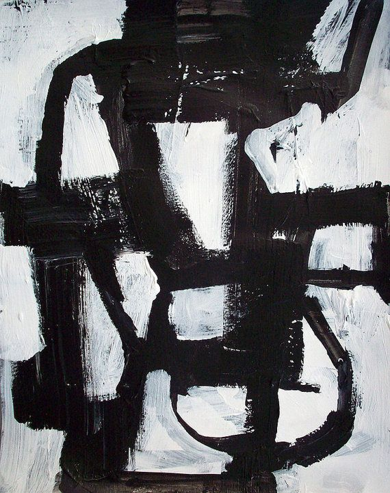 abstract painting 40 x 30 black and white modern art abstract geometric minimalist custom made. Black Bedroom Furniture Sets. Home Design Ideas