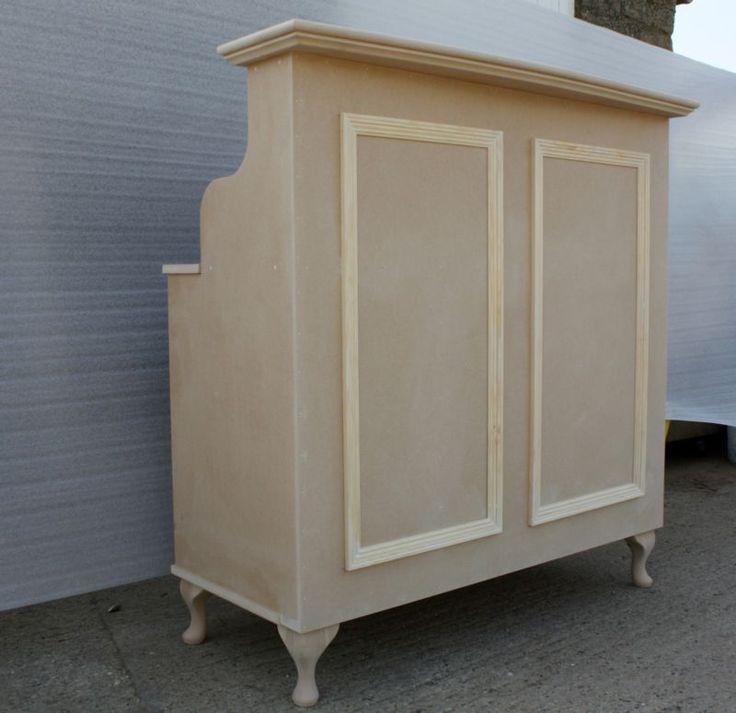 Raw mdf reception desk cash desk salon retail for L shaped salon reception desk