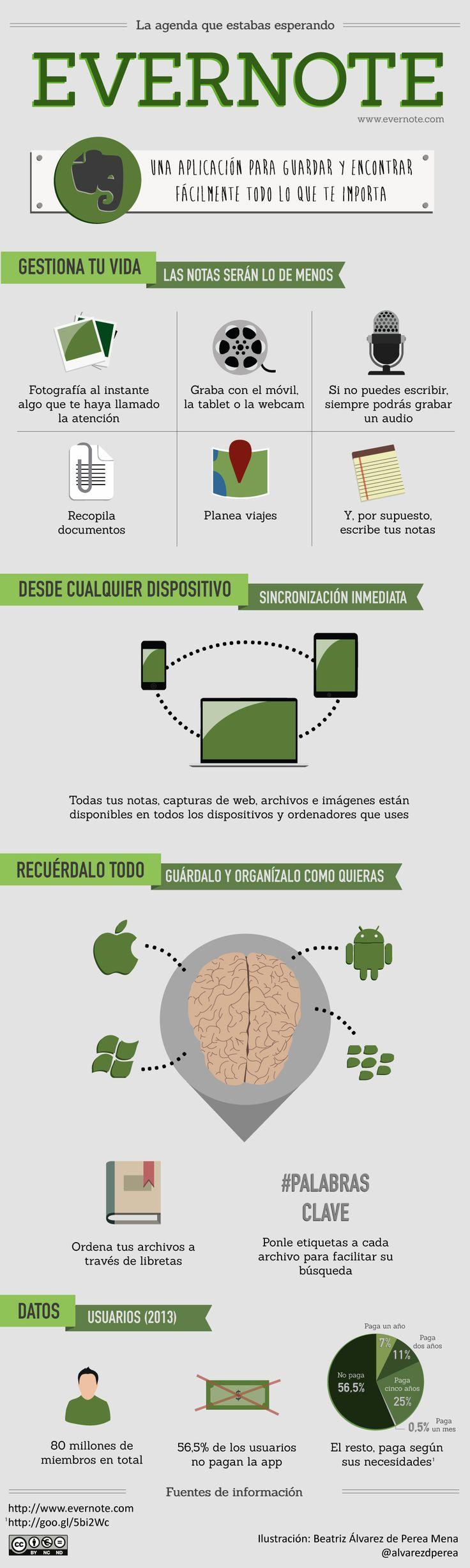 Qué es y para que sirve Evernote #infografia #infographic #internet