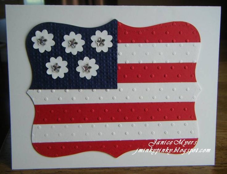 handmade card  ... Happy 4th! ... whimsical take on the flag card ... sweet daies as stares ... whole flag cut into shape with Top Note die ... pretty card ... Stampin' Up!