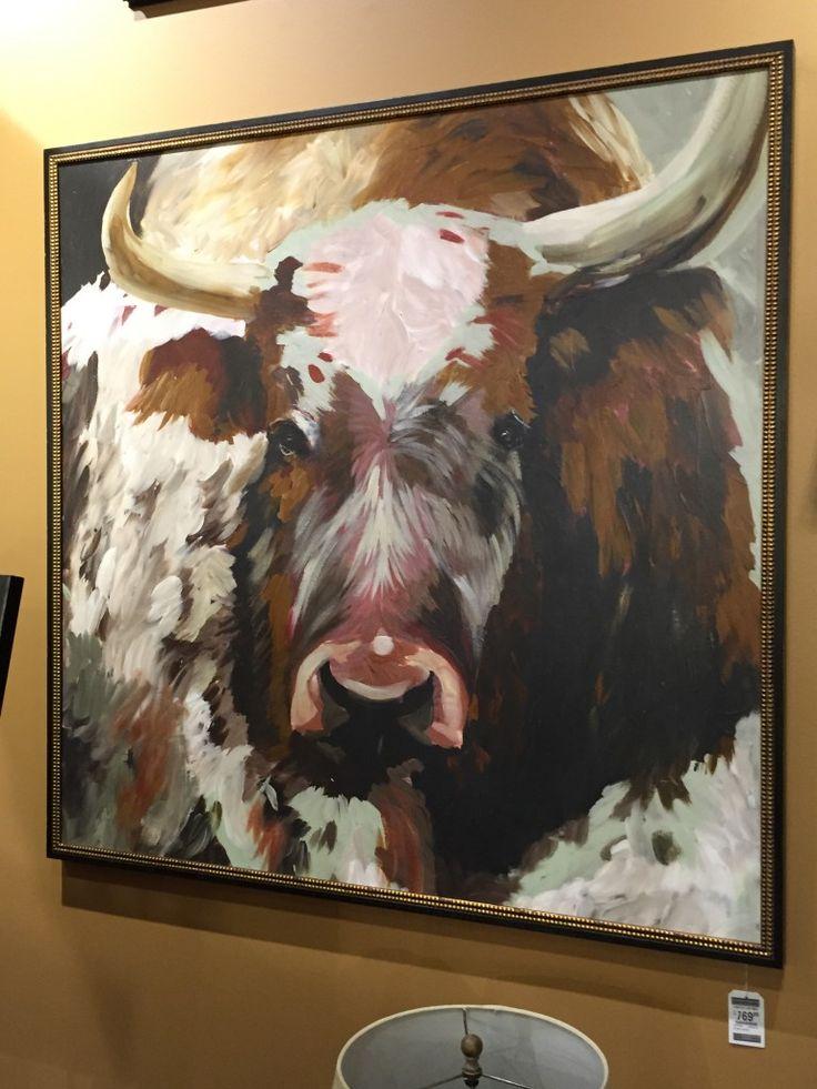Texas longhorn painting as seen at Nebraska Furniture Mart
