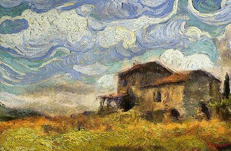 Vincent van Gogh, La maison sur la colline.