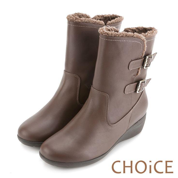 https://tw.buy.yahoo.com/gdsale/CHOiCE個性復古真皮雙皮釦捲捲毛低跟短靴可可-5548386.html