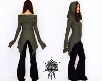 Wine Hooded tunic dress. Cowl neck dress. Festival dress. Pixie dress. Mid season dress. Elven clothing. Sacred Geometry, Winter dress