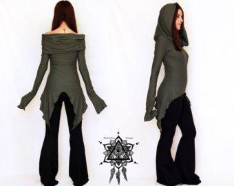 Pixie dress. Elven dress. Goddess dress. by AbstractikaCrafts