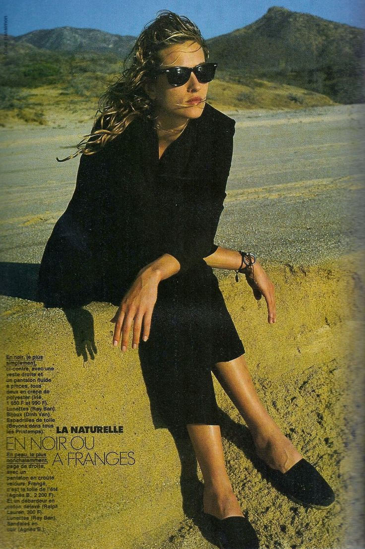 tatjana patitz gilles bensimon elle magazine france march 1989