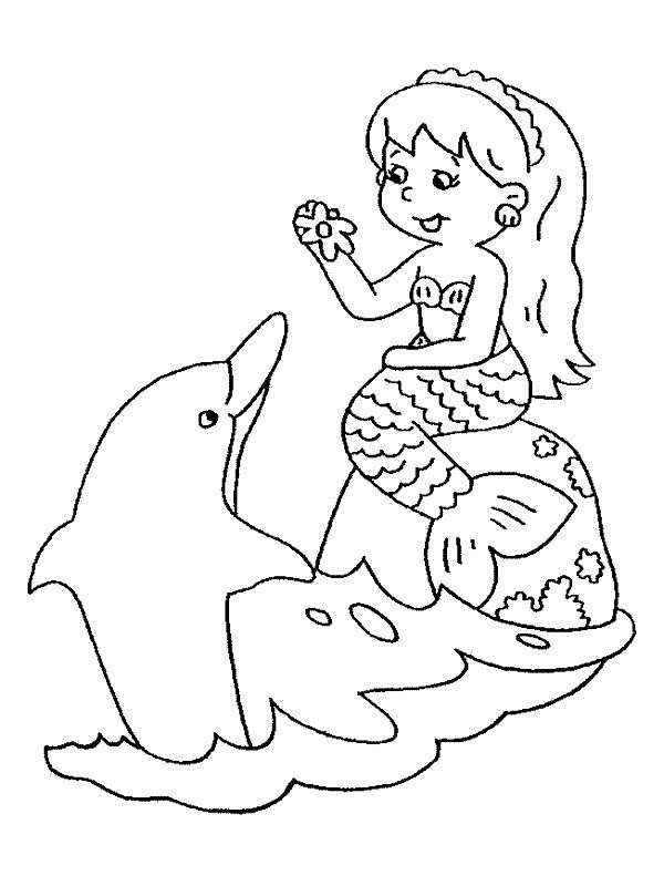 mermaid coloring pages 19