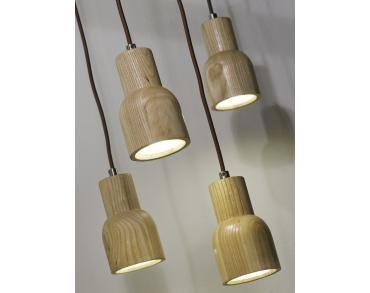 Hanglamp Kobe - Grijs - Eikenhout - It's About RoMi